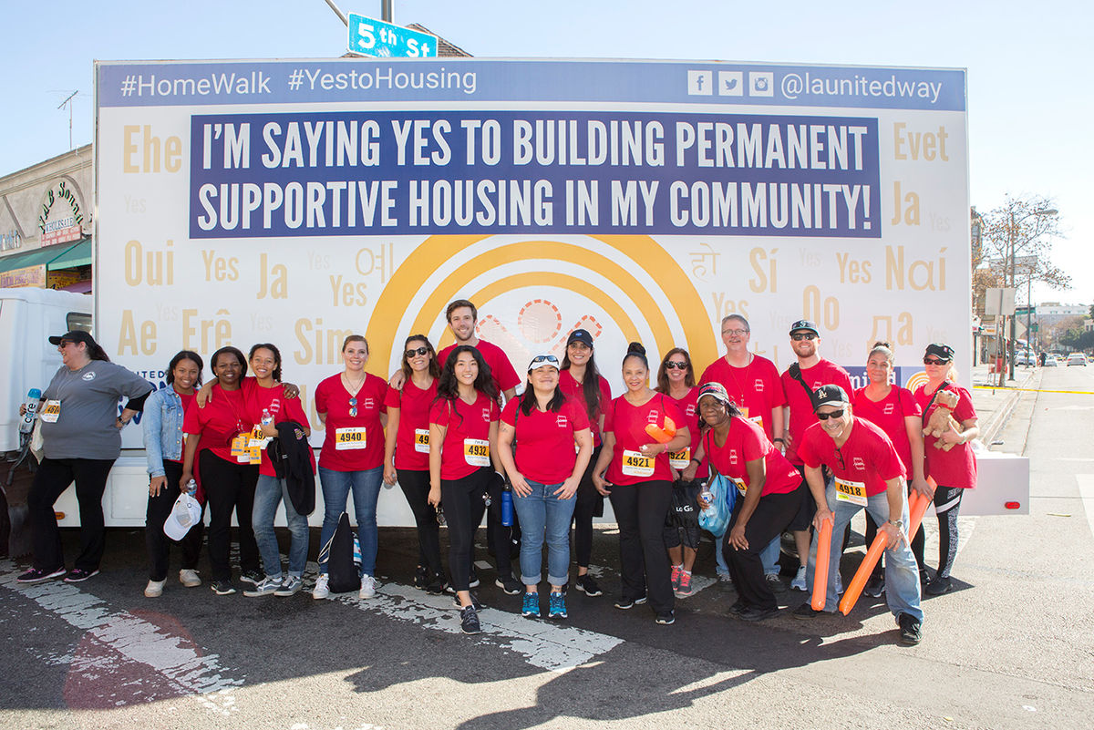 Hilton Foundation Staff supporting Yes to Housing!