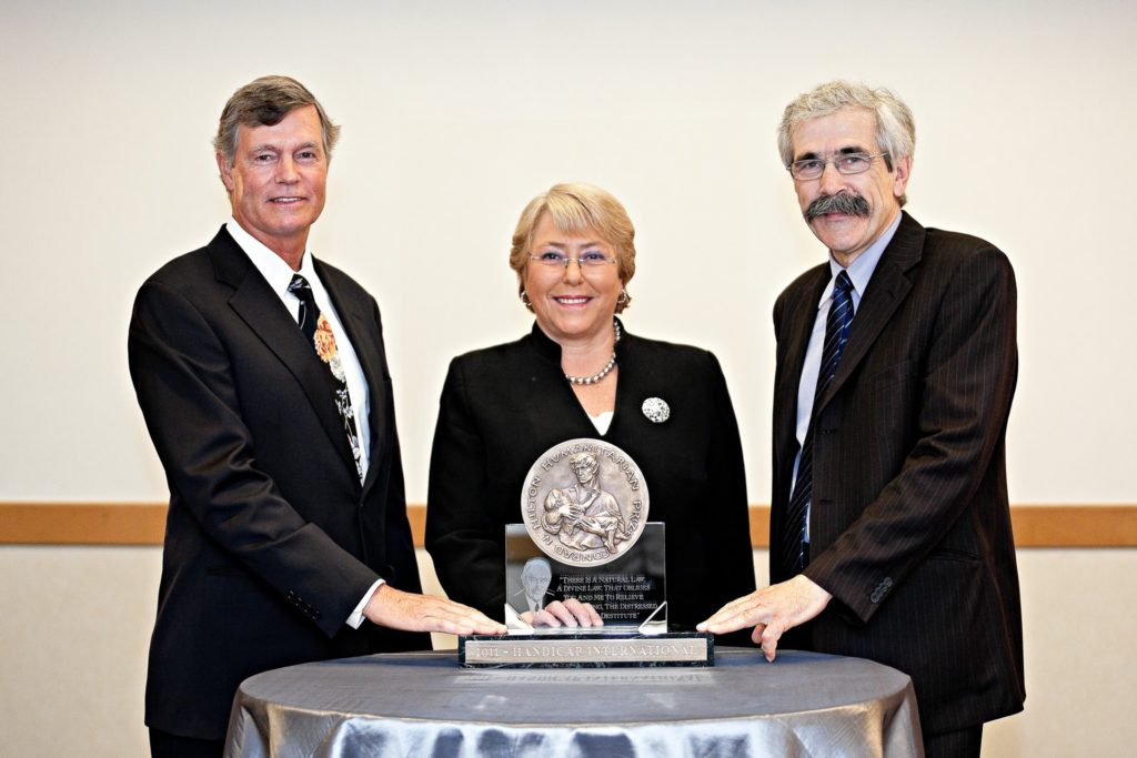 Image of 2011 Hilton Humanitarian Prize winner Handicap International