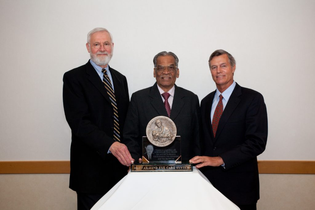 Image of 2010 Hilton Humanitarian Prize winner Aravind Eye Care System