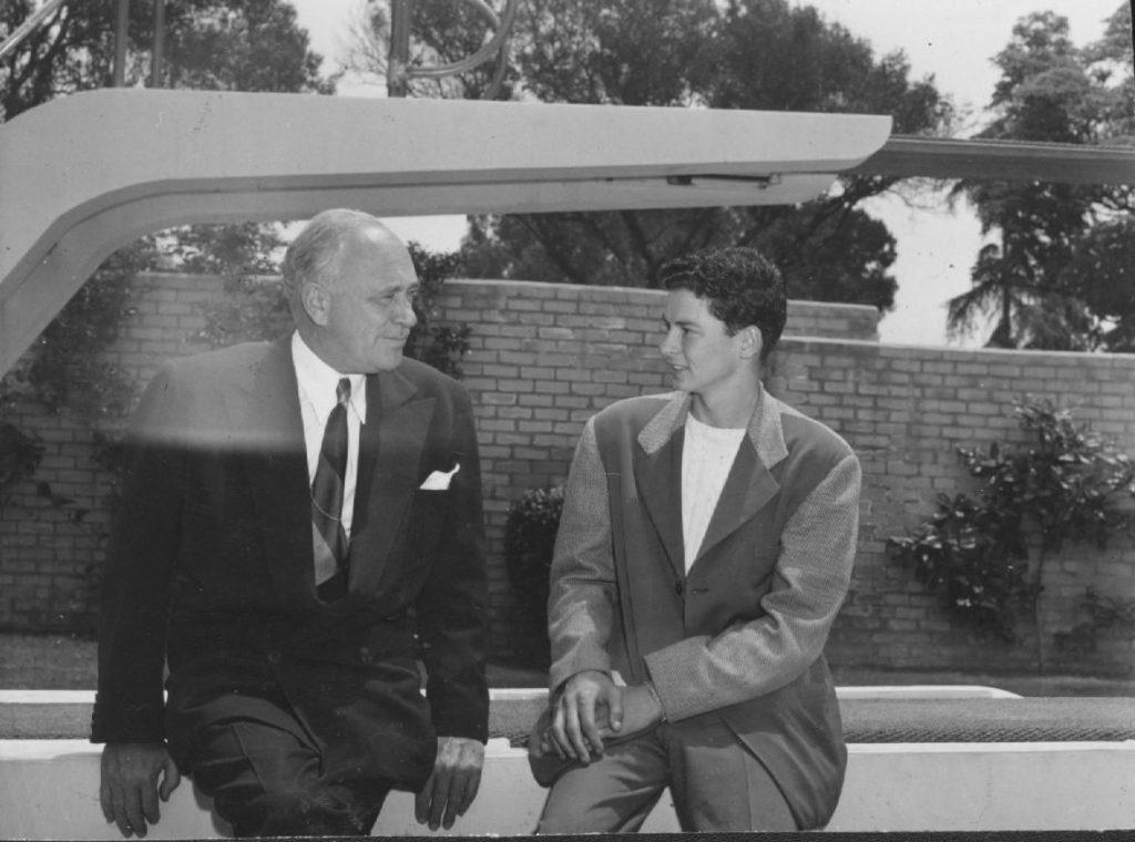 Barron Hilton with his father, Conrad N. Hilton