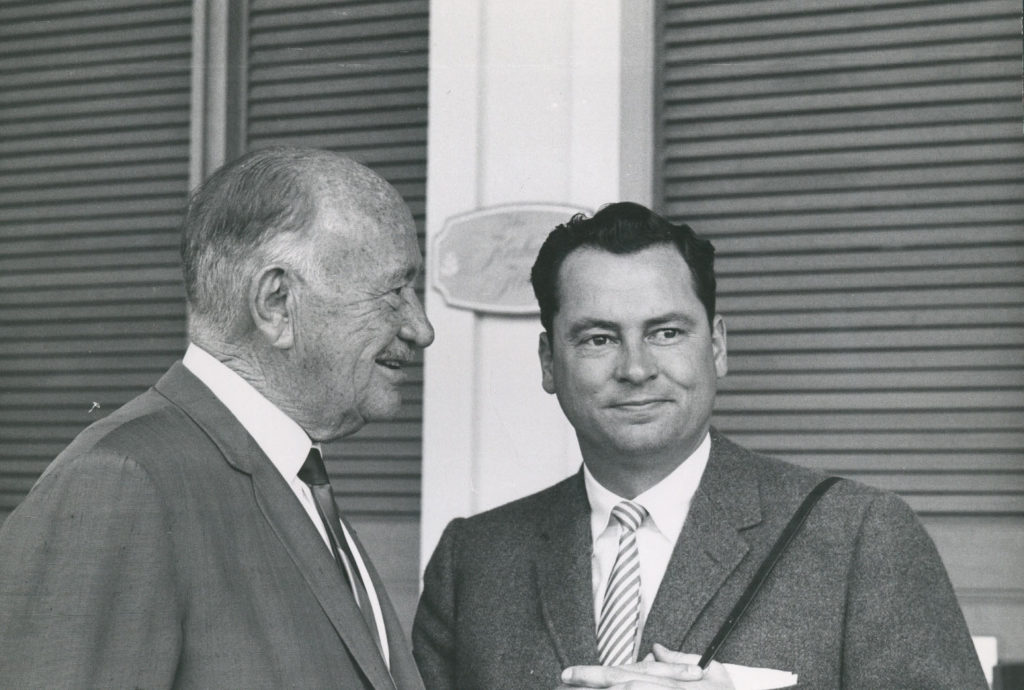 Our founder Conrad N. Hilton and his son Barron Hilton, who followed in his philanthropic footsteps.